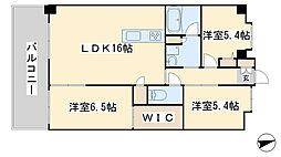 ウイングス三萩野[1407号室]の間取り