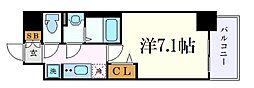 メイクスデザイン名駅南 6階1Kの間取り