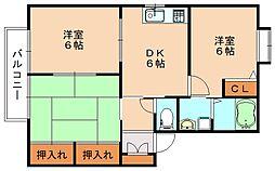 ヴィブレA棟[1階]の間取り