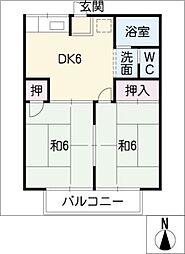 ロイヤルタマダ[1階]の間取り