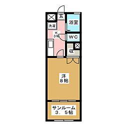 仙台白萩マンション[1階]の間取り