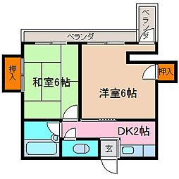 佐藤マンション[201号室号室]の間取り