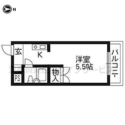 ソレーユー藤井[202号室]の間取り
