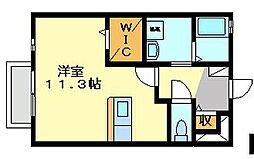 ルパラディ103[1階]の間取り