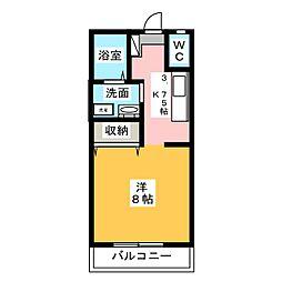 プリシェールKAWAI[2階]の間取り