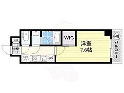 ハーモニーレジデンス東京イーストサイド 2階1Kの間取り