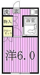 青木ハイツ[2階]の間取り