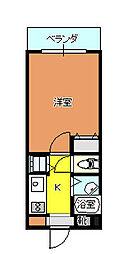 イミューブルケヤキ[202号室]の間取り