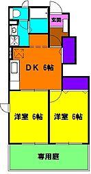 静岡県浜松市南区河輪町の賃貸アパートの間取り