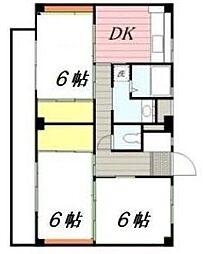 神奈川県中郡二宮町百合が丘3の賃貸マンションの間取り