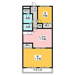 レジデンス鶴里[3階]の間取り