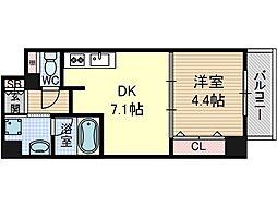ソラージュ茨木[3階]の間取り