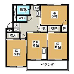 コーポたんのI[2階]の間取り