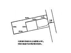 区画図です。太枠線内が対象物件です。敷地面積は実測619m2ございます。