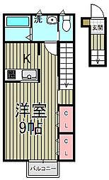 スマイルハウスA・I[2-C号室]の間取り