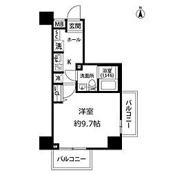 プレール・ドゥーク亀戸水神駅前[9階]の間取り
