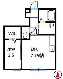 コンフォート大谷[1階]の間取り