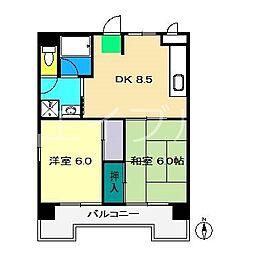 レジデンス・ノナミ[5階]の間取り