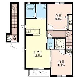 SDS 12 B[2階]の間取り