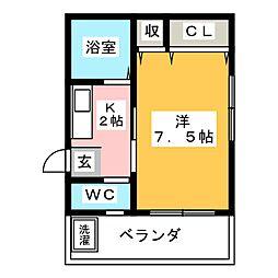 ホープフル上野[1階]の間取り