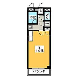 鳴子NOVA[3階]の間取り