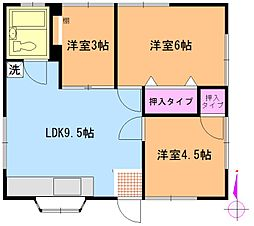 池田ハイツ[2階号室]の間取り