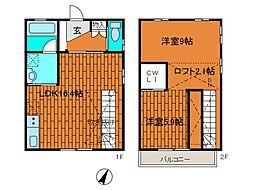 [テラスハウス] 神奈川県川崎市麻生区片平5丁目 の賃貸【/】の間取り