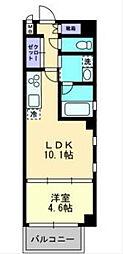 福岡市地下鉄七隈線 天神南駅 徒歩6分の賃貸マンション 5階1LDKの間取り