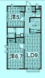ジュネス橋場I[1階1号室号室]の間取り