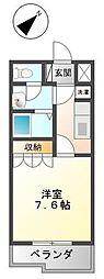 神奈川県厚木市及川2丁目の賃貸アパートの間取り