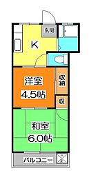 カスヤハイツ[2階]の間取り