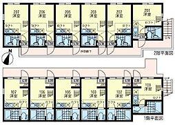 ユナイト 横浜パームデールの杜[1階]の間取り