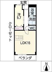 コーポトシ[2階]の間取り