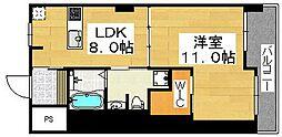 プレオール堺東[5階]の間取り