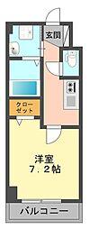 東京都江戸川区篠崎町2丁目の賃貸マンションの間取り