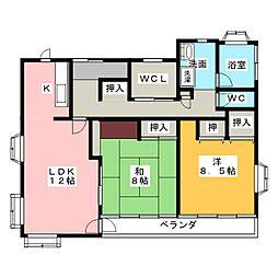 セレーノ草薙[3階]の間取り