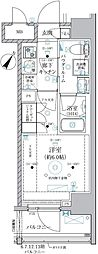 JR京浜東北・根岸線 川崎駅 徒歩8分の賃貸マンション 3階1Kの間取り