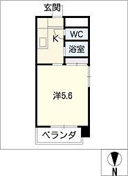 富士レイホービル第5[1階]の間取り