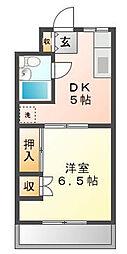 静岡県浜松市中区高丘西4丁目の賃貸アパートの間取り
