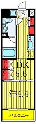 セジョリ板橋坂下II 1階1DKの間取り