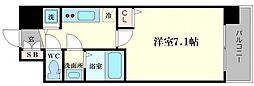 レオンコンフォート難波サウスゲート 12階1Kの間取り