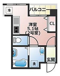 ラ・トゥール船橋TOKYO-BAY[202号室]の間取り