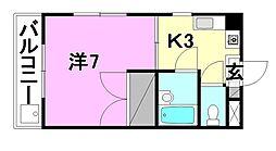大栄和泉マンション[202 号室号室]の間取り