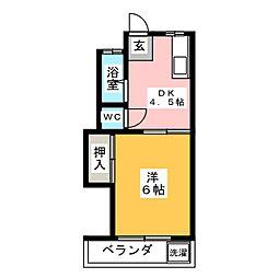 ドエル柴田[2階]の間取り