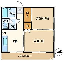 第5平成ビル 201[2階]の間取り
