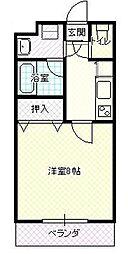 JR奥羽本線 蔵王駅 蔵王駅口下車 徒歩1分の賃貸アパート 1階1Kの間取り