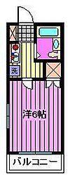 フラッツ南浦和[2階]の間取り