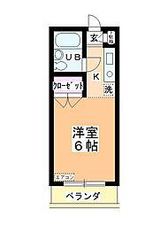 ステーションヴィラ鶴ヶ島[311号室]の間取り