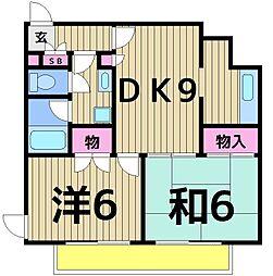 エトワール嵯峨2[402号室]の間取り