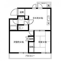 ヒルズ司I[2階]の間取り